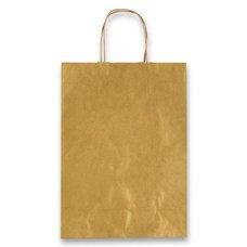 Papírová taška Allegra - 220 x 100 x 270 mm, vel. S, zlatá