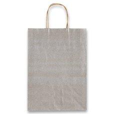 Papírová taška Allegra, 260 x 120 x 360 mm, vel. M, stříbrná