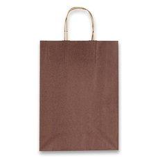 Papírová taška Allegra, 260 x 120 x 360 mm, vel. M, hnědá