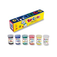Prstové barvy Toy Color - 6 barev, 25 ml