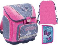 Karton P+P anatomický školní batoh PREMIUM Motýlci Butterfly 2015
