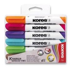Kores Popisovač K-Marker Whiteboard - sada 6 barev