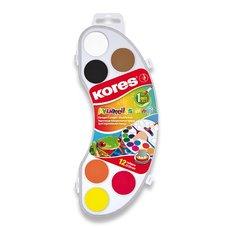 Vodové barvy Kores Akuarellas - 12 barev, průměr 25 mm
