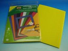 Vlnitý papír citrónově žlutý