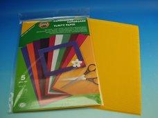 Vlnitý papír žlutooranžový