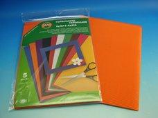 Vlnitý papír oranžový