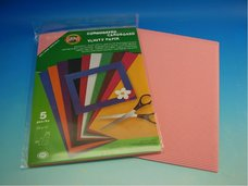 Vlnitý papír  - růžový
