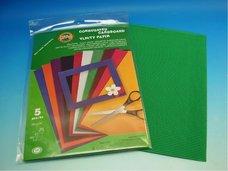 Vlnitý papír  - zelený