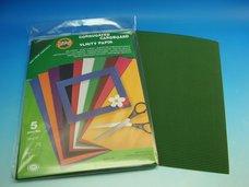 Vlnitý papír tmavě zelený