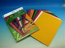 Vlnitý papír  - mix 10 barev