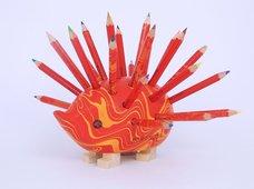 KOH-I-NOOR Ježek malý 9960M dřevěný s pastelkami červený MAGIC