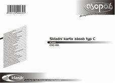 Skl. karta zásob typ C - příjem, výdej, zásoba v množství a v Kč