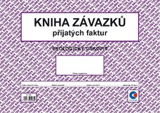Kniha závazků A4 (kniha došlých faktur, oboustranná)