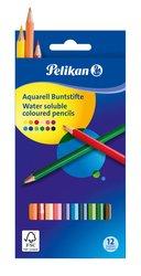 Pelikan Pastelky akvarelové šestihranné 12 barev