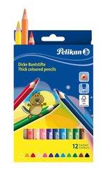 Pelikan Pastelky trojhranné silné  12 barev
