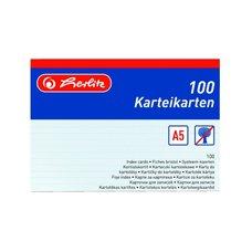 Herlitz Karty do kartotéky A5/100 ks bílé