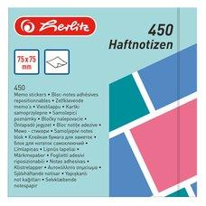 Herlitz Samolepicí bloček Color blocking 75 x 75 mm