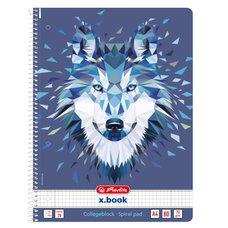 Herlitz Spir.blok A4/80 čtverečkovaný Vlk