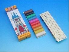 Plastelína se špachtlí 260g 10 barev
