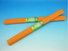 Papír krepový oranžový+červené tečky