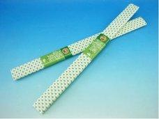Papír krepový bílý+zelené tečky