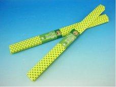 Papír krepový žlutý+zelené tečky