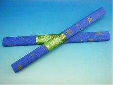 Papír krepový modrý se zlatou hvězdou
