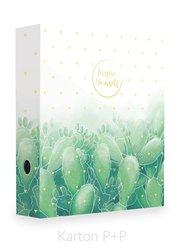 Karton P+P Pořadač A4 lamino páka 7cm Romantic kaktus