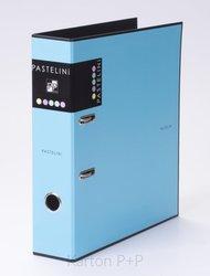 Karton P+P Pořadač A4 lamino páka 7cm PASTELINI modrá