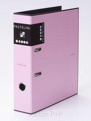 Karton P+P Pořadač A4 lamino páka 7cm PASTELINI růžová