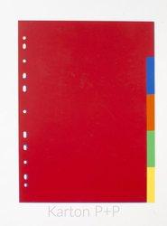 Karton P+P Rozdružovač A4, 1x5 barev PP 120my