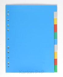 Karton P+P Rozdružovač A4, 2x5 barev PP 120my