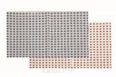 Karton P+P Ubrus do výtvarné výchovy 65x50cm červeno-bílé kostky