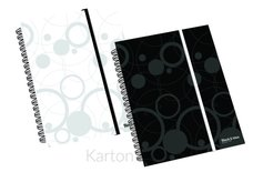 Karton P+P Twin wire blok A6 PP Black and White černá