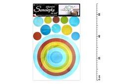 Samolepící dekorace 10065 kruh  modrý 70x42cm
