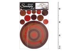 Samolepící dekorace 10066 kruh hnědý 70x42cm