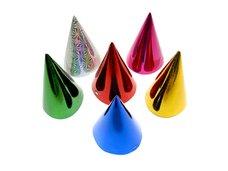 Klobouček karnevalový 6ks 16cm hologramový mix ME120