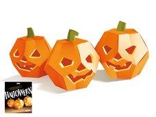 Dýně na Halloween 3 kusy, skládanka z kartonu