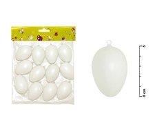 Vajíčka plast 6cm/12ks bílé S32085