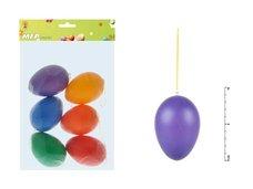 Vajíčka plast 9cm/6ks mix colors S160343