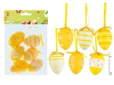 Vajíčka plast 6cm/6ks S160026Y