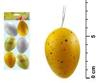 Vajíčka plast 6cm/6ks S170041E
