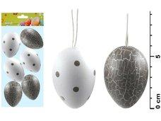 Vajíčka plast 6cm/6ks S170188A-1