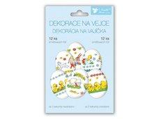 Velikonoční obtisk na vajíčka 837 košilky tradiční motivy 12ks