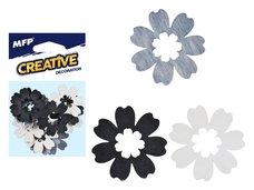 MFP Dekorace květina přírodní 12ks 4cm mix
