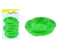 MFP Hnízdo sisal 5cm 6ks - zelené