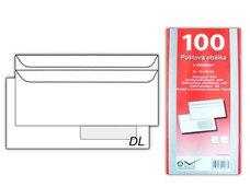 Dopisní obálka DL K-DL/80FRSX/P/100 okno vpravo samolepící