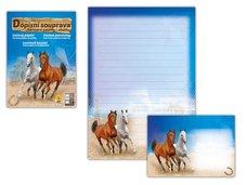 Dopisní papír barevný LUX 5+10 (Kůň 2)