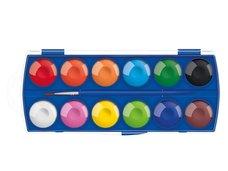 Barvy vodové 12 barev 30mm krabička