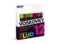 Voskovky MFP fluo 12 barev - trojhranné